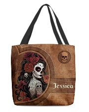 Skull Girl Print All-over Tote front