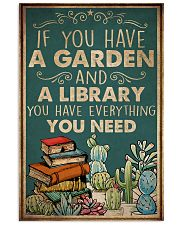 Book You Have A Garden And A Library 16x24 Poster front