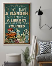 Book You Have A Garden And A Library 16x24 Poster lifestyle-poster-1