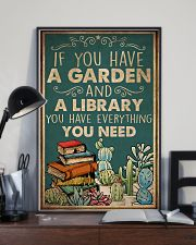 Book You Have A Garden And A Library 16x24 Poster lifestyle-poster-2