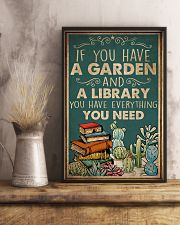 Book You Have A Garden And A Library 16x24 Poster lifestyle-poster-3