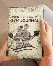 Gym Journal Medium - Leather Notebook aos-medium-leather-notebook-lifestyle-front-04