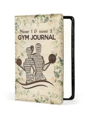 Gym Journal Medium - Leather Notebook front