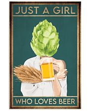 Beer Just A Girl 16x24 Poster front