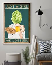 Beer Just A Girl 16x24 Poster lifestyle-poster-1
