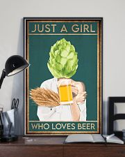 Beer Just A Girl 16x24 Poster lifestyle-poster-2