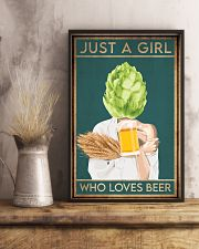 Beer Just A Girl 16x24 Poster lifestyle-poster-3