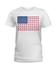 beagle flag Ladies T-Shirt front