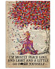 Yoga Peace Love And Light 16x24 Poster front