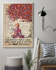 Yoga Peace Love And Light 16x24 Poster lifestyle-poster-1