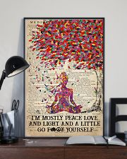 Yoga Peace Love And Light 16x24 Poster lifestyle-poster-2