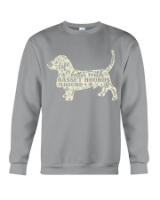 Life is better with basset hounds around Crewneck Sweatshirt thumbnail