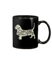 Life is better with basset hounds around Mug thumbnail