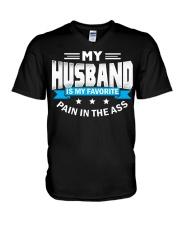 My husband is my favorite V-Neck T-Shirt thumbnail