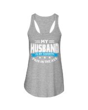 My husband is my favorite Ladies Flowy Tank thumbnail