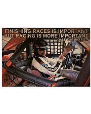 Racing Finishing Races Is Important 36x24 Poster front