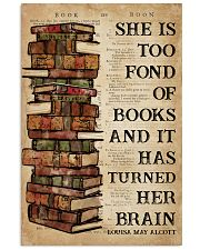Book She Is Too Fond Of Books 16x24 Poster front