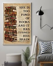 Book She Is Too Fond Of Books 16x24 Poster lifestyle-poster-1