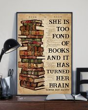 Book She Is Too Fond Of Books 16x24 Poster lifestyle-poster-2