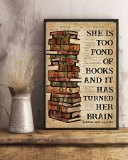 Book She Is Too Fond Of Books 16x24 Poster lifestyle-poster-3
