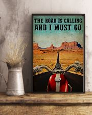Biker The Road Is Calling 16x24 Poster lifestyle-poster-3