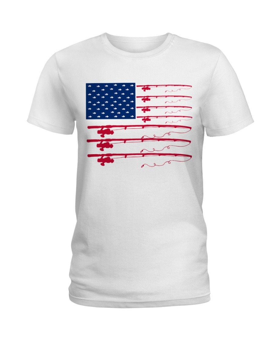 Fishing flag Ladies T-Shirt