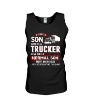 I have a son who is a trucker Unisex Tank thumbnail