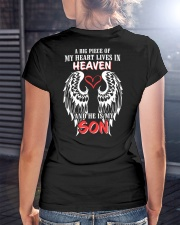 A Big Piece Of My Heart Lives In Heaven Ladies T-Shirt lifestyle-women-crewneck-back-3