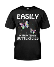 Easily distracted by butterflies Classic T-Shirt front