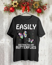 Easily distracted by butterflies Classic T-Shirt lifestyle-holiday-crewneck-front-2