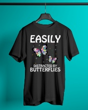 Easily distracted by butterflies Classic T-Shirt lifestyle-mens-crewneck-front-3
