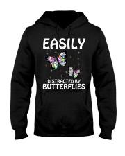 Easily distracted by butterflies Hooded Sweatshirt thumbnail
