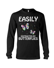Easily distracted by butterflies Long Sleeve Tee thumbnail