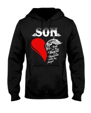 Son Half of My Heart is in Heaven Hooded Sweatshirt front