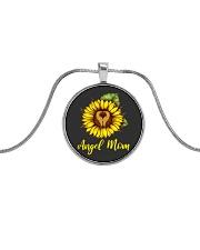 Angel Mom Metallic Circle Necklace thumbnail