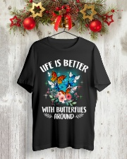 Life is better with butterflies around Classic T-Shirt lifestyle-holiday-crewneck-front-2