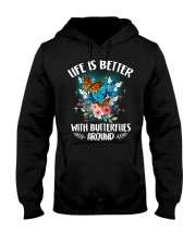 Life is better with butterflies around Hooded Sweatshirt thumbnail