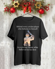 Cricket Mom Classic T-Shirt lifestyle-holiday-crewneck-front-2