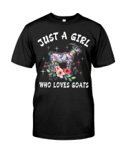 Just a girl who loves goats Classic T-Shirt front