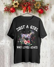 Just a girl who loves goats Classic T-Shirt lifestyle-holiday-crewneck-front-2