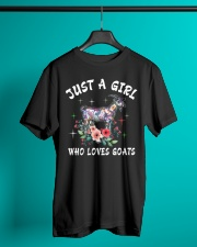 Just a girl who loves goats Classic T-Shirt lifestyle-mens-crewneck-front-3