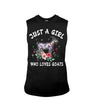 Just a girl who loves goats Sleeveless Tee thumbnail