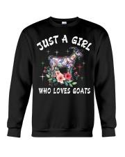 Just a girl who loves goats Crewneck Sweatshirt thumbnail