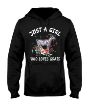 Just a girl who loves goats Hooded Sweatshirt thumbnail