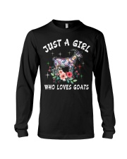Just a girl who loves goats Long Sleeve Tee thumbnail