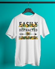 Easily distracted by sunflowers Classic T-Shirt lifestyle-mens-crewneck-front-3