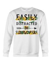 Easily distracted by sunflowers Crewneck Sweatshirt thumbnail
