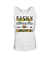 Easily distracted by sunflowers Unisex Tank thumbnail