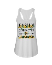 Easily distracted by sunflowers Ladies Flowy Tank thumbnail