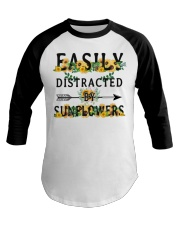 Easily distracted by sunflowers Baseball Tee thumbnail